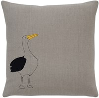 K Studio Galapagos Albatross Pillow Gray