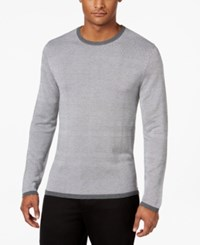 Alfani Men's Textured Striped Sweater Only At Macy's Night Grey