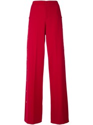 Red Valentino Wide Leg Trousers Red