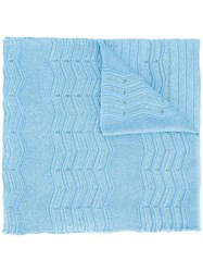 M Missoni Knitted Scarf Blue