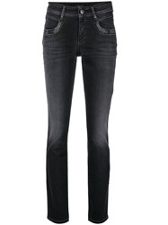 Cambio Parlina Swarowski Crystal Embellished Jeans Black