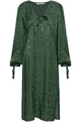 W118 By Walter Baker Aura Jacquard Midi Dress Emerald