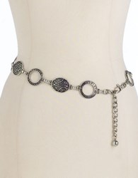 Fashion Focus Oval Chainlink Belt Silver