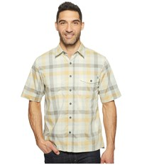 Woolrich Performance Shirt Amber Gold Men's Short Sleeve Button Up Brown