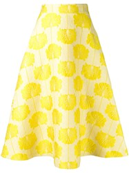 P.A.R.O.S.H. Embroidered Flared Skirt Yellow Orange