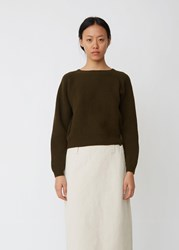 Margaret Howell Ribbed Crewneck Sweater Military