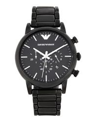 Emporio Armani Wrist Watches Black