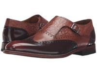 Stacy Adams Madison Ii Monk Strap Wingtip Cognac Honey Brush Off Men's Monkstrap Shoes Brown