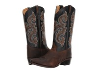 Old West Boots 5507 Brown Oil Tan Black Cowboy