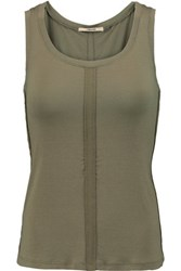 J Brand Cotton And Linen Blend Tank Army Green