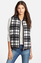 Madewell Reversible Plaid Vest Almost Black