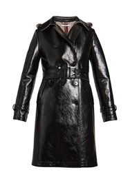 Stella Mccartney Michaela Double Breasted Coated Trench Coat Black