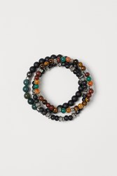 Handm H M 3 Pack Bracelets With Beads Green