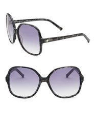 Colors In Optics Orifina Ii Rouned Square Sunglasses Black Quartz Blue Cherry