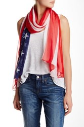 Collection Xiix American Flag Scarf Red