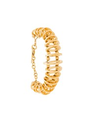 Alberta Ferretti Bead And Hoop Bracelet Gold
