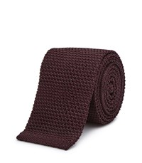 Reiss Shaun Mens Slim Silk Tie In Red
