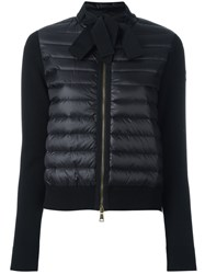 Moncler Padded Front Tie Collar Jacket Black