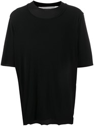Individual Sentiments Layered Collar T Shirt Black