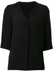 Peter Cohen Placket Top Black