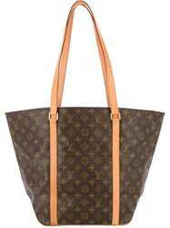 Louis Vuitton Vintage Sac Shopping Shoulder Tote Women Leather One Size Brown