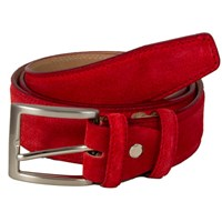 40 Colori Red Trento Leather Belt