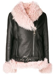Philipp Plein Shearling Lined Jacket Black