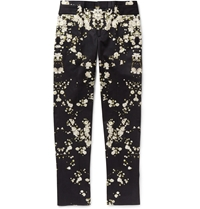 Givenchy Printed Slim Fit Cotton Trousers Black