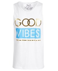 Univibe Good Vibes Tank Top White