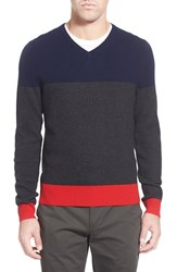 Ag Jeans Men's Ag 'Admiral' Colorblock Wool And Cashmere V Neck Sweater