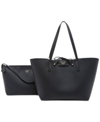 Guess Bobbi Inside Out Tote Black Cognac