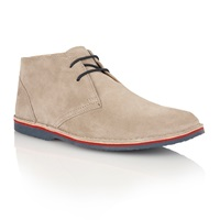Lotus Wickford Lace Up Casual Desert Boots Stone
