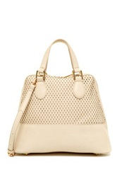 Urban Expressions Marisol Perforated Dome Satchel Beige