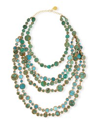 Turquoise Multi Strand Necklace Devon Leigh