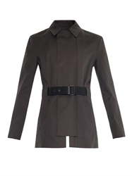 Balenciaga Leather Belted Trench Coat