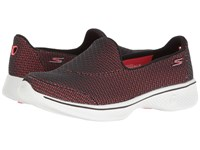 Skechers Go Walk 4 Black Hot Pink Women's Shoes