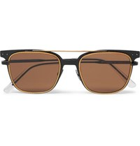 Bottega Veneta Square Frame Metal Sunglasses Brown