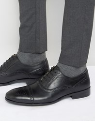 Red Tape Brogues In Black Leather Black