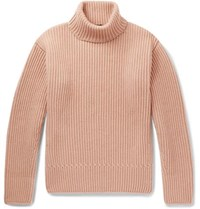 Tom Ford Ribbed Cashmere Rollneck Sweater Pink