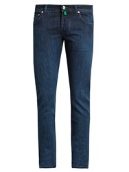 Jacob Cohen Tailored Slim Leg Stretch Denim Jeans Light Blue
