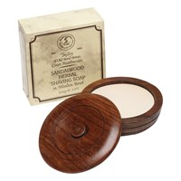 Taylor Of Old Bond Street Sandalwood Shaving Soap With Wooden Bowl 100G