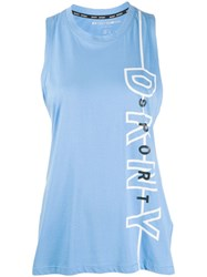 Dkny Sleeveless Tank Top Blue