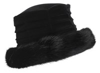 Dents Ladies Velvet Hat Black