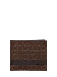 Salvatore Ferragamo Gamma Embossed Leather Wallet