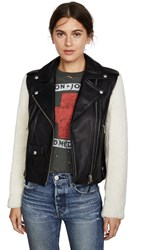 Mackage Baya Leather Jacket Black