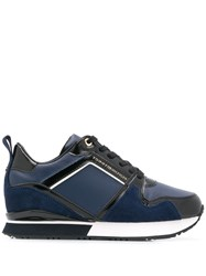 Tommy Hilfiger Patent Wedge Sneakers Blue