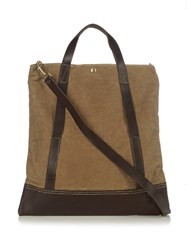 Malle Remi Waxed Cotton Canvas Tote Tan