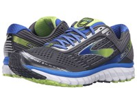 Brooks Ghost 9 Anthracite Electric Blue Lime Punch Men's Running Shoes Gray