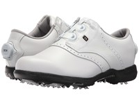Footjoy Dryjoys Cleated Boa Traditional Blucher Saddle All Over White Golf Shoes