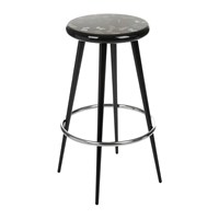 Fornasetti Farfalle Bar Stool Black